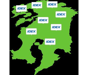 九州地方とIDEXのイメージ画像